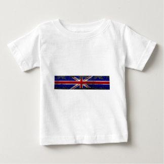 Distressed Union Jack Flag Baby T-Shirt