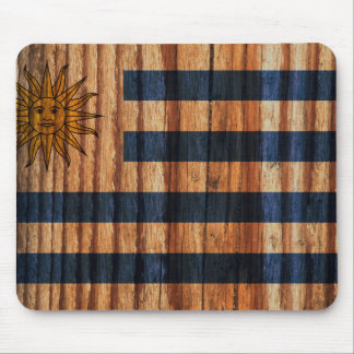 Distressed Uruguay Flag Mouse Pad