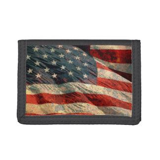 Distressed USA Flg Wallet