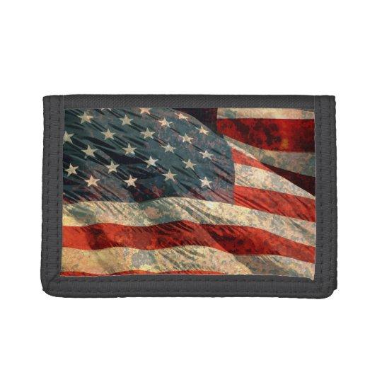 Distressed USA Flg Wallet