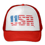 Distressed USA with Old Glory background Cap