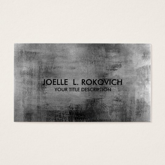 Distressed Vintage Black Grey Grungy Pastel Business Card