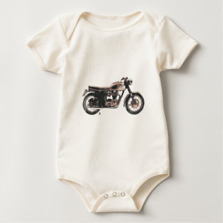 Distressed Vintage British Motorcycle Clothing Baby Bodysuit