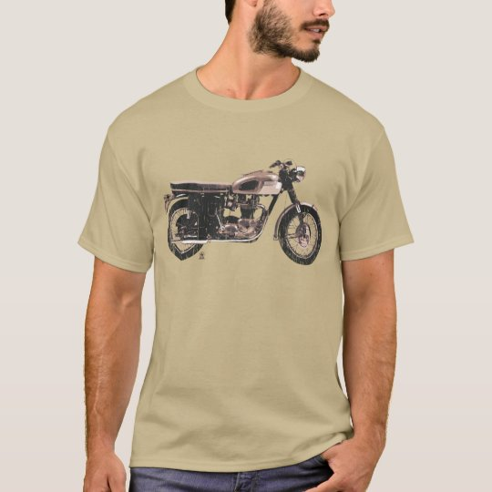 Distressed Vintage British Motorcycle Clothing T-Shirt