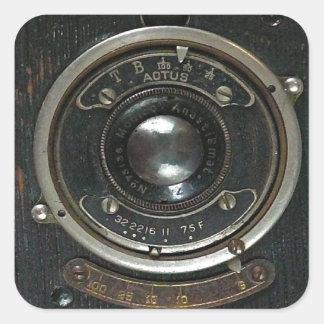 Distressed Vintage Camera Square Sticker
