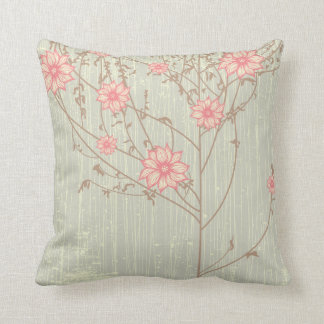 Distressed Vintage  Flowers  American MoJo Pillow Throw Cushion