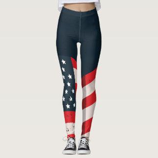 Distressed Vintage USA Flag Leggings