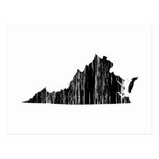 Distressed Virginia State Outline Postcard