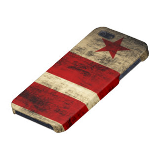 Distressed Washington DC Flag iPhone 5/5S Covers