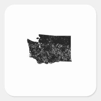 Distressed Washington Silhouette Sticker