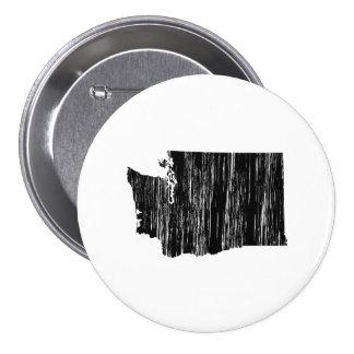 Distressed Washington State Outline 7.5 Cm Round Badge