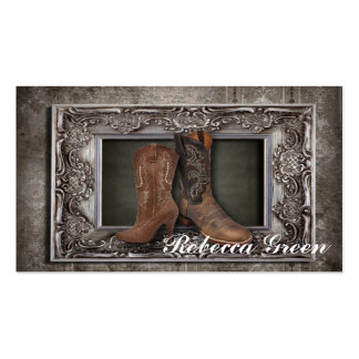 distressed western country cowboy wedding pack of standard business cards