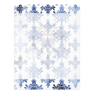 distressed white and royal blue damask pattern flyer