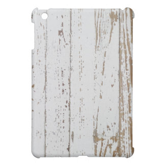 Distressed White Wood Planks Protective Case iPad Mini Cover