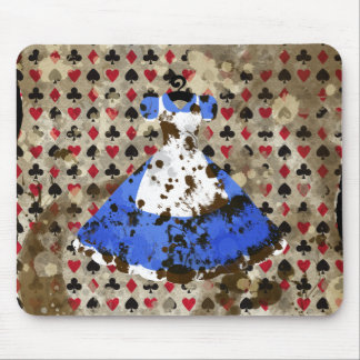 Distressed Wonderland Alice Pattern Mouse Pad