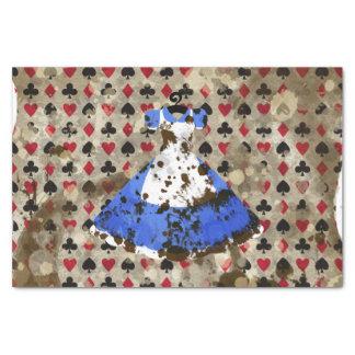 Distressed Wonderland Alice Pattern Tissue Paper