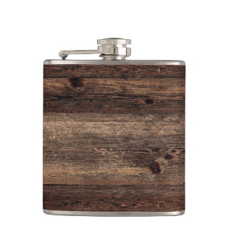 Distressed Wood Antique Vintage Flask
