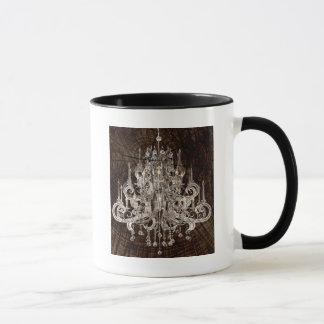 Distressed Wood Grain country Vintage Chandelier Mug