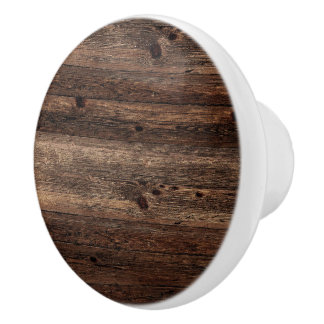 Distressed Wood Knob White