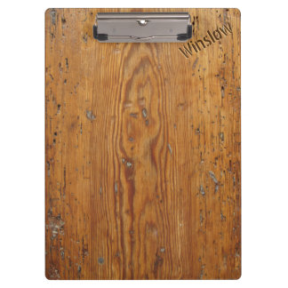 Distressed Wood (Personalized Clipboard) Clipboard