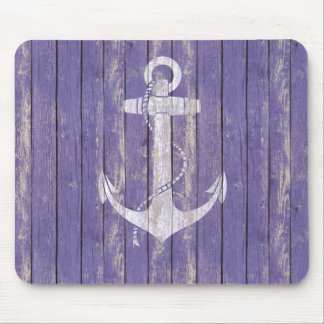 Distressed Wood with Anchor Mouse Mat