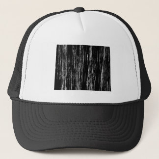 Distressed Wyoming State Outline Trucker Hat