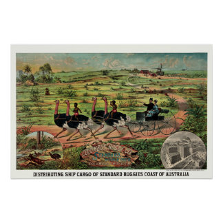 Distributing ship cargo of buggies Australia Poster