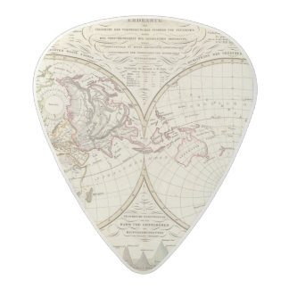 Distribution Map of Rivers and Mountains Acetal Guitar Pick