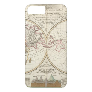 Distribution Map of Rivers and Mountains iPhone 8 Plus/7 Plus Case