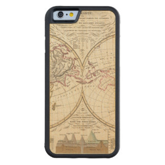 Distribution Map of Rivers and Mountains Maple iPhone 6 Bumper Case