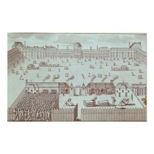 Distribution of Bread at the Tuileries Kiosk Print