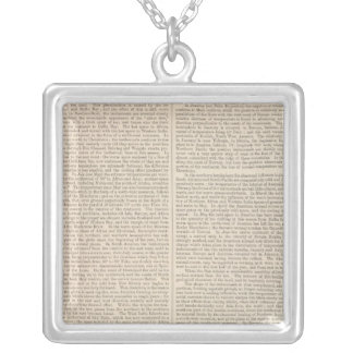 Distribution of Heat over the Globe continued Silver Plated Necklace