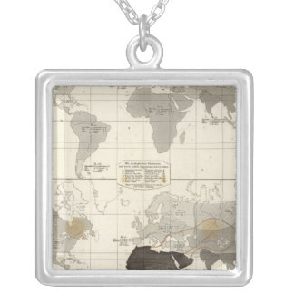 Distribution of rodents and animals silver plated necklace
