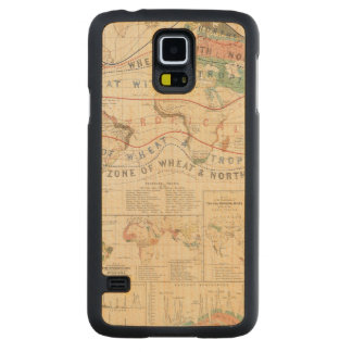 Distribution plants carved maple galaxy s5 case