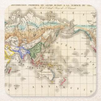 Distribution primitive du genre humain square paper coaster
