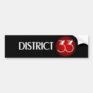 District 33 Brand Logo (White Text) Bumper Sticker