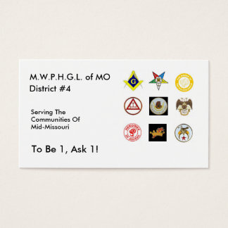 District 4 Business Card