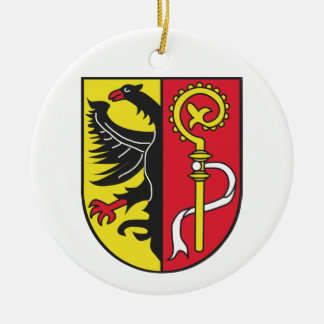 District beaver oh coats of arms round ceramic decoration