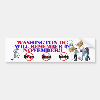 District Of Columbia Return Congress To The People Bumper Sticker