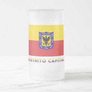 Distrito Capital Flag with Name Frosted Glass Mug