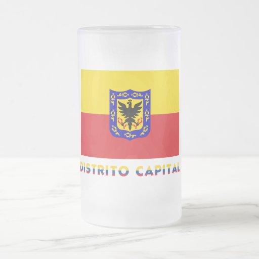 Distrito Capital Flag with Name Coffee Mugs