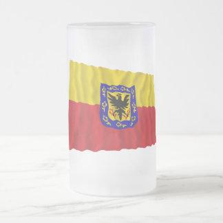 Distrito Capital Waving Flag Frosted Glass Mug
