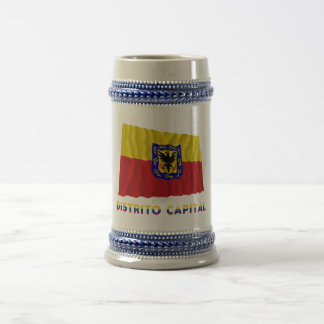 Distrito Capital Waving Flag with Name Beer Steins
