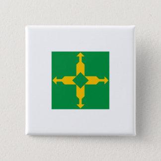 Distrito Federal, Brazil 15 Cm Square Badge
