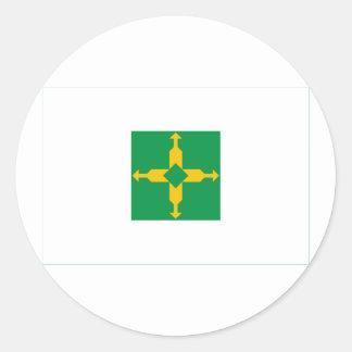 Distrito Federal, Brazil Flag Classic Round Sticker