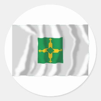 Distrito Federal, Brazil Waving Flag Classic Round Sticker
