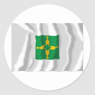 Distrito Federal, Brazil Waving Flag Round Sticker