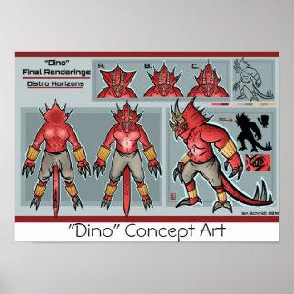 """Distro Horizons""- Dino Poster"