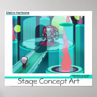 Distro Horizons - Stage Design Poster