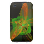 Disturbance Abstract Fractal Artwork Tough iPhone 3 Cases